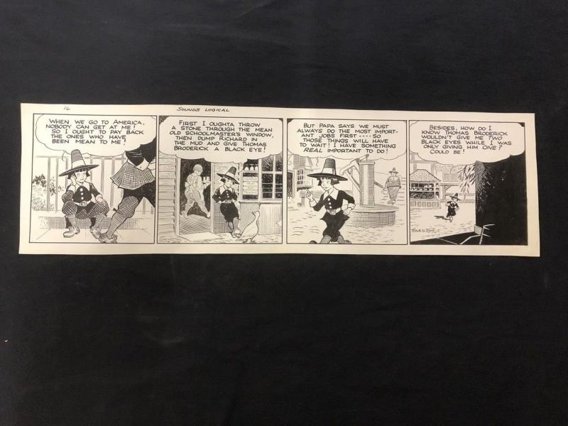 Fred Fox Original Daily Comic Strip Art #16- unpublished?