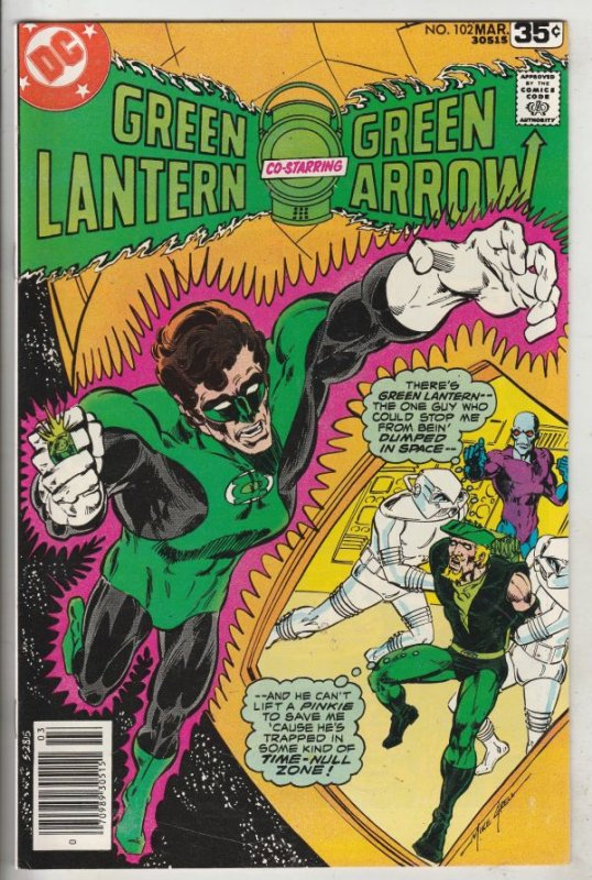 Green Lantern #102 (Mar-78) NM- High-Grade Green Lantern, Green Arrow, Black ...