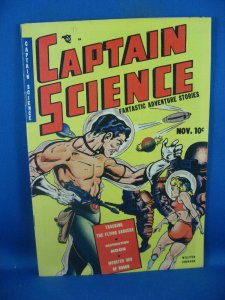 CAPTAIN SCIENCE 1 VF- FIRST ISSUE WALLY WOOD SCARCE 1950 NICE!