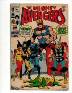 Avengers # 68 VG Marvel Comic Book Hulk Thor Iron Man Captain America BJ1