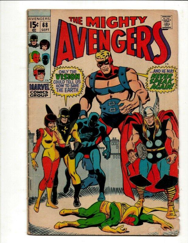 Avengers # 68 VG Marvel Comic Book Hulk Thor Iron Man Captain America BJ1