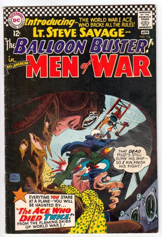 All-American Men of War #114 (Apr-66) FN/VF+ High-Grade Lt Steve Savage Ballo...