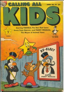 Calling All Kids #18 1948-Parents-Paddy Penguin-Twinkle-stories-comics-riddle...