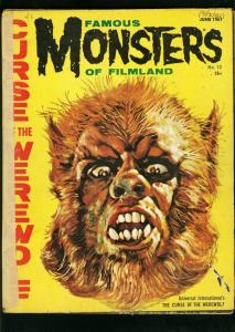 FAMOUS MONSTERS OF FILMLAND #12 1961-CURSE OF THE WEREWOLF-GOGOS COVER-fair FR
