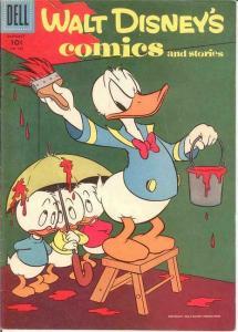 WALT DISNEYS COMICS & STORIES 196 F+  Jan. 1957 COMICS BOOK