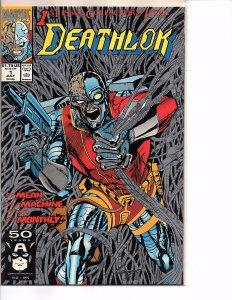 Marvel Comics Deathlok #1 Dwayne McDuffie NM Denys Cowan