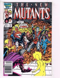 Lot Of 2 New Mutants Marvel Comic Books # 46 59 X-Men Wolverine Storm Rogue J110