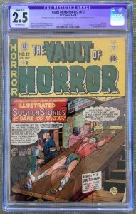Vault of Horror #1 (#12 1950) CGC 2.5 -- Bondage torture cvr Slight restoration