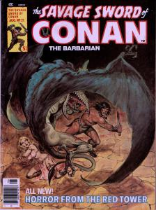 Savage Sword of Conan #21 - Early Conan Magazine - 6.0 or Better