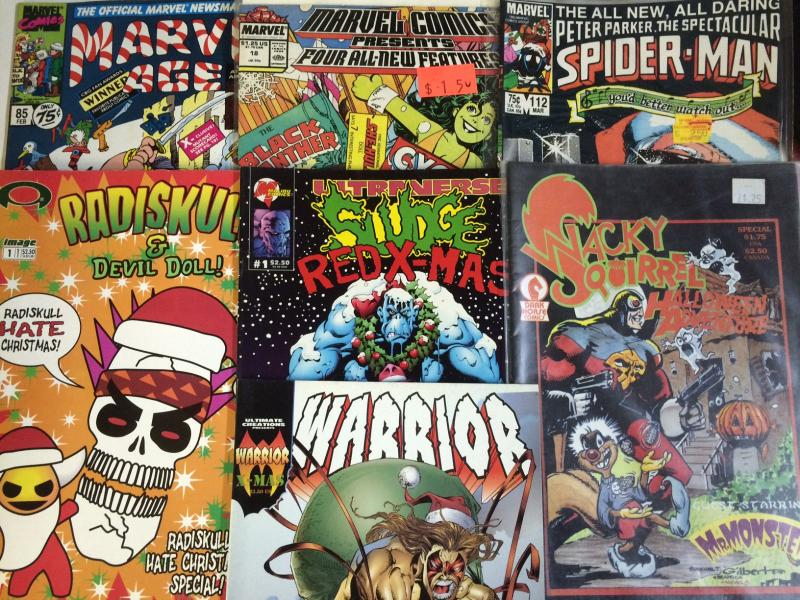 Christmas Comics as Christmas Cards 14 issue set Spider-man Black Cat Iron Man