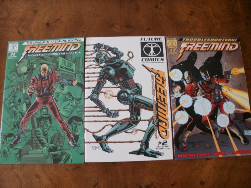 Freemind #1 #2 #7 (Future Comics) 2002 2003 Origin