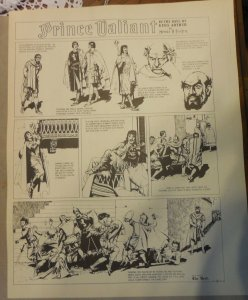 Prince Valiant by Hal Foster Syndicate Proof 9/29/1940  Size 16 x 20 inches