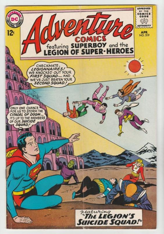 Adventure Comics #319 (Apr-64) FN+ Mid-High-Grade Superboy, Legion of Super-H...