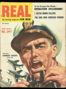 REAL-JAN 1955-MARILYN MONROE-R DESOTO JUNGLE MENACE ART VG