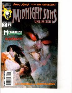 7 Marvel Comics Midnight Sons 2 1 Fun & Games 1 Battlestar 11 Morbius 4 5 6 TW57