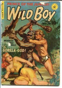 WILD BOY #10 1951-ZIFF-DAVIS-NORMAN SAUNDERS-GOOD GIRL ART-BONDAGE -vg minus