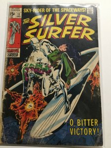 Silver Surfer 11 Good- Gd- 1.8 Hole In Cover Marvel
