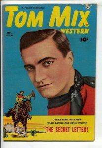 Tom Mix Western #45 1951-Fawcett-Photo cover-Carl Pfeufer story art-Secret L...