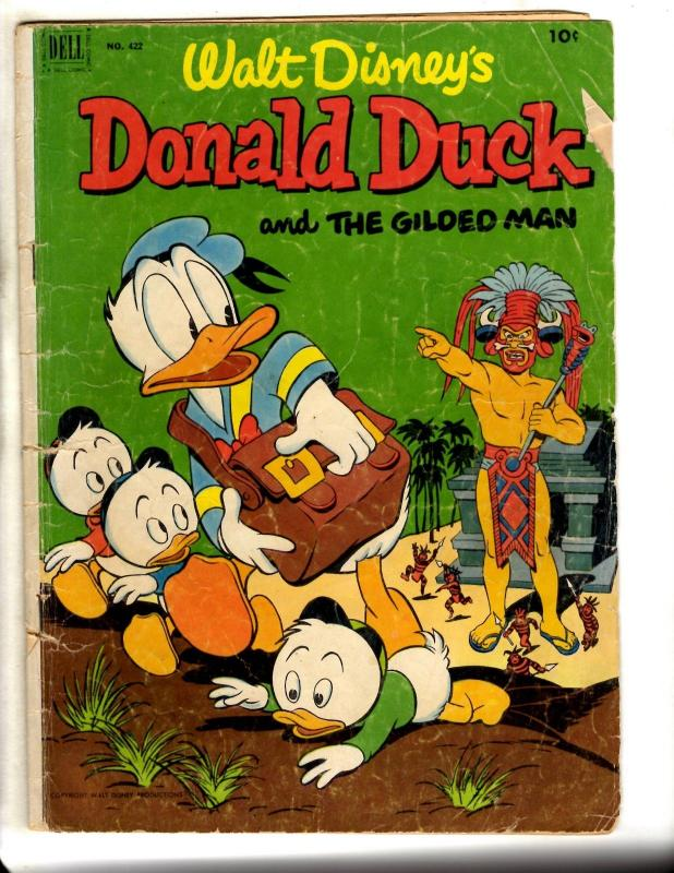 Four Color # 422 VG Dell Silver Age Comic Book Donald Duck Walt Disney Barks JL9