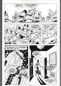 RONN SUTTON ELVIRA #140 ORIG ART PG 2-CHRISTMAS STORY-SANTA CLAUS-QUEEN 'B' FN