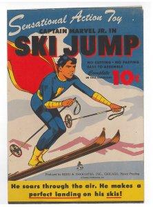 Captain Marvel Jr. in Ski Jump, paper toy 1944, complete, unused