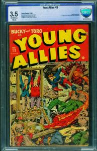 Young Allies #13 1944 CBCS 3.5-Child Torture-Horror-Timely-Zombies