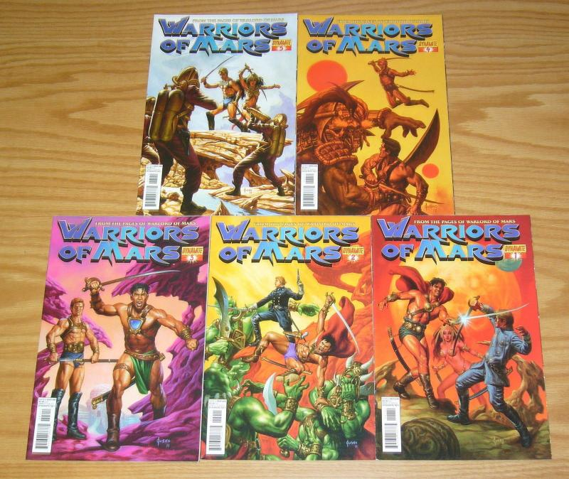 Warriors of Mars #1-5 VF/NM complete series - joe jusko variants - john carter