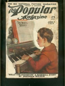 POPULAR MAGAZINE PULP-4/7/25-PIANO COVER-BASEBALL VG
