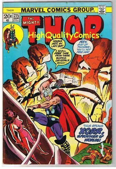 THOR #215, FN+, God of Thunder, John Buscema, 1966, more Thor in store