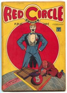 Red Circle #2 1945- Prankster- Red Riot- Judge Golden Age VG-
