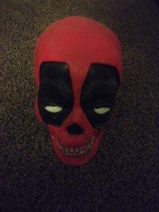 Deadpool Skull clay and resin