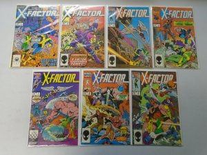 X-Factor comic lot 21 different from #1-25 8.0 VF (1986-88 1st Series)