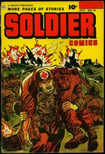 Soldier Comics #10 1952- Korean War- Fawcett Golden Age G/VG