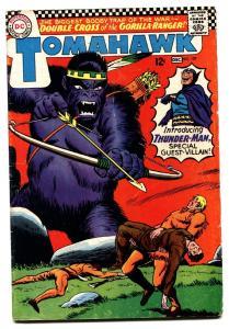 TOMAHAWK #107 1966-DC COMICS-GORILLA COVER THUNDER-MAN VG
