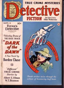DETECTIVE FICTION 1941 SEPT 3 RICHARD SALE PULP MYSTERY VG