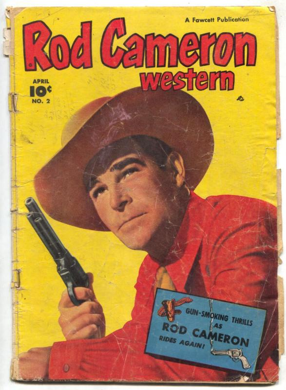 Rod Cameron Western #2 1950- Golden Age Fawcett incomplete