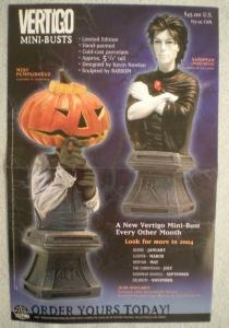 VERTIGO MINI-BUSTS Promo poster, Sandman, 2003, Unused, more in our store