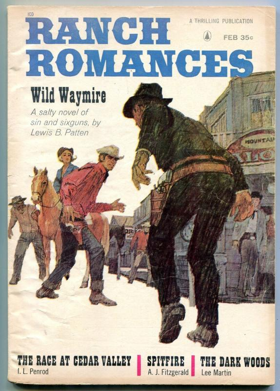Ranch Romances Pulp February 1964- Wild Waymire VG/F