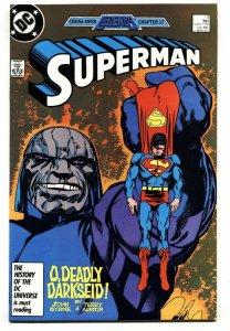 Superman #3  DARKSEID  NM-  DC comic book 1987