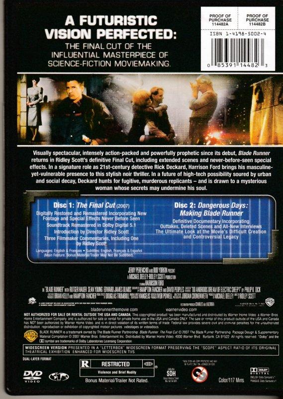 Blade Runner The Final Cut DVD