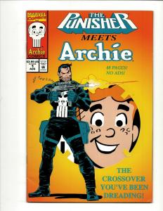 The Punisher Meets Archie # 1 VF Marvel Comic Book Riverdale Jughead J371