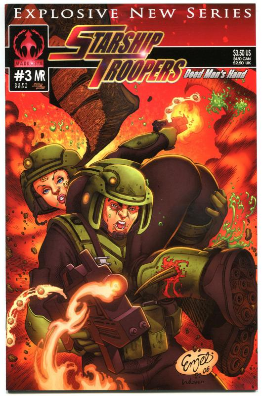 STARSHIP TROOPERS #3 C, NM, Markosia, Bugs, Sci-fi, 2006, more Horror in store