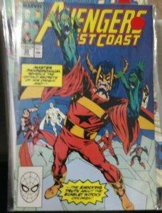 west coast avengers #   42 49 52 53 54 57 58 62 66 67 74 75 76 78 marvel  u pick