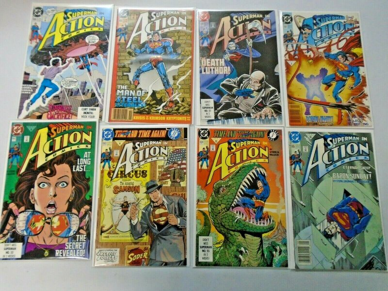 Action Comics Lot From #650-699 49 Different Average 8.5 VF+ (1990-1994)