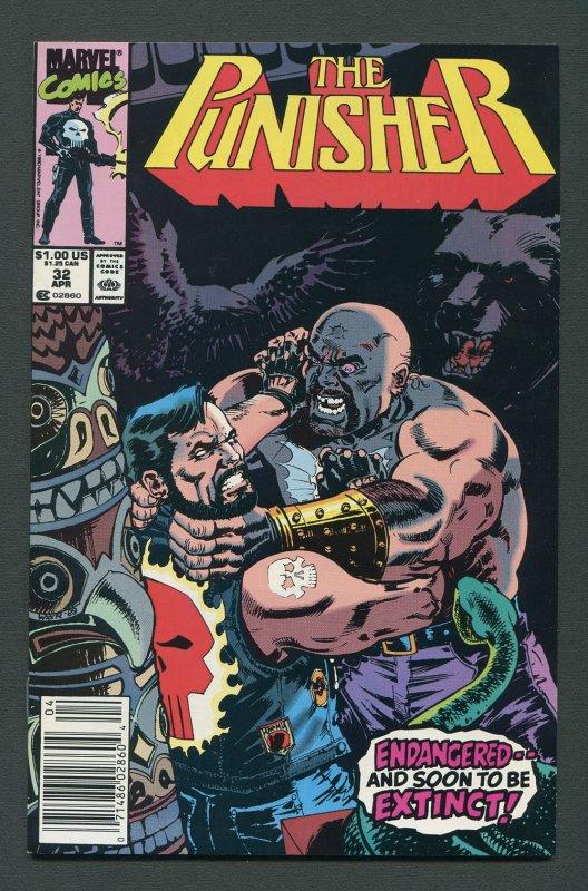 Punisher #32 / 9.4 NM  Newsstand   April 1990