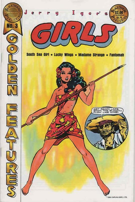 Golden Features (Jerry Iger's…) #3 FN; Blackthorne | save on shipping - details