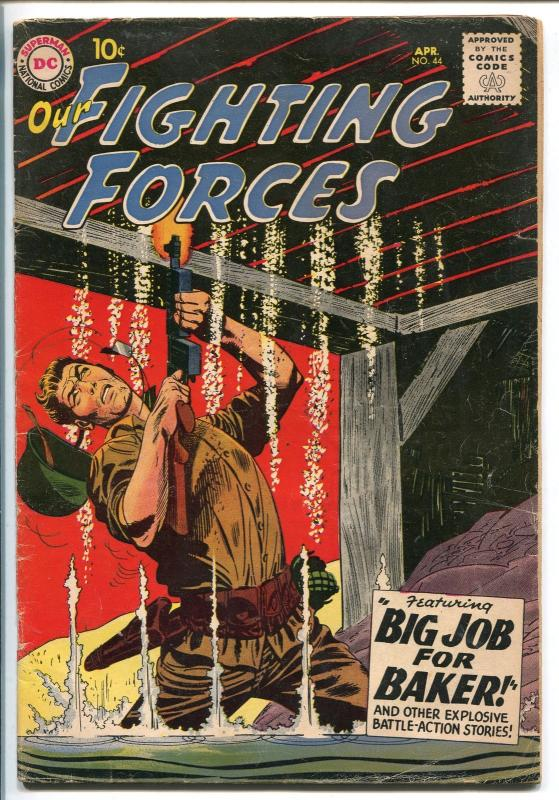 OUR FIGHTING FORCES #44-1959-DC-SILVER AGE-RUSS HEATH-FROGMAN-DRUCKER-vg
