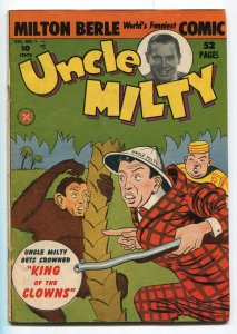 UNCLE MILTY #1-1950-MILTON BERLE PHOTO COVER-ORIGIN TV RELATED COMICS-vg