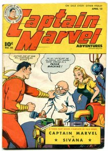 Captain Marvel Adventures #58 1946- Sivana- Golden Age VG-