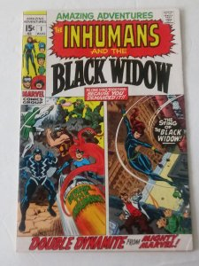 Amazing Adventures #1 (FN-/FN) 1970 Black Widow Inhumans by Lee & Kirby ID28H